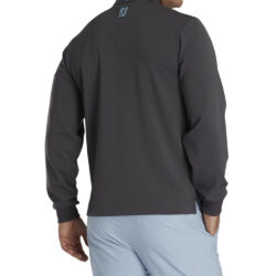 FootJoy Athletic Fit Pique Sport Mid Layer - Charcoal/Light Blue